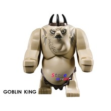 Single Big Size Clayface Venom Goblin King Juggernaut cave Troll Lord of the Rings Mines Of Moria Figure Building Blocks Toys(China)