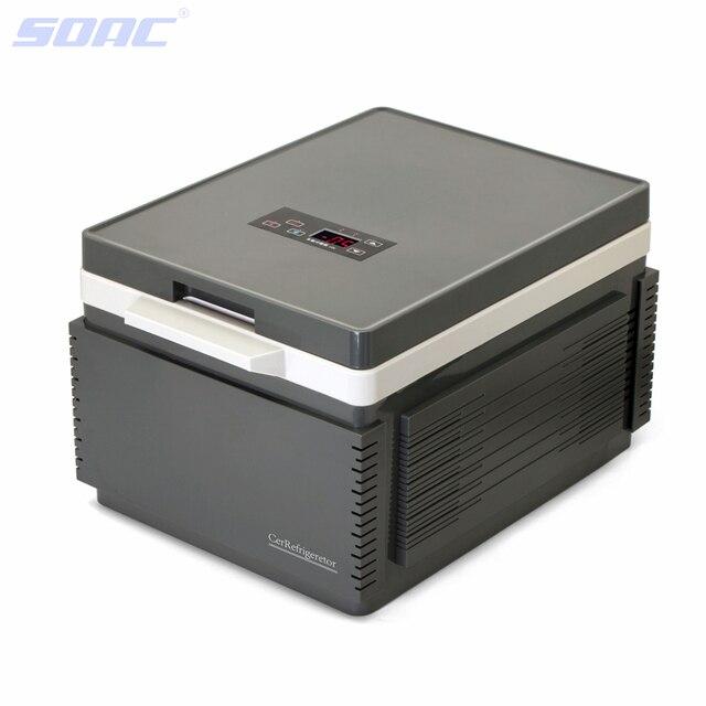 Mini Fridge Multi-Function 12V Car Refrigerator  with Built-in Battery Portable Freezer for Car Grey 12 Liter Bluetooth 3.0