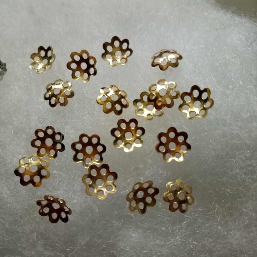 2018 prix le plus bas 500 pièces 8mm résultats de bijoux connexion fleur chapeau Isolation bijoux perle casquettes collier à faire soi-même à la main en gros