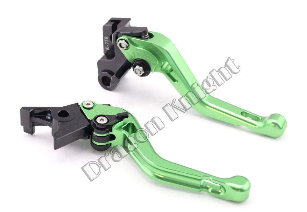 Motocycle Accessories For KAWASAKI VERSYS1000 2015 Short Brake Clutch Levers Green