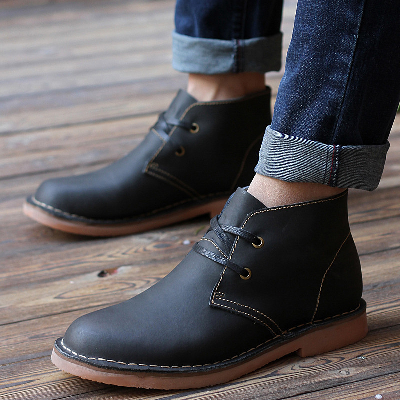 Aliexpress.com : Buy New 2015 Boots For Men Leather Spring Casual