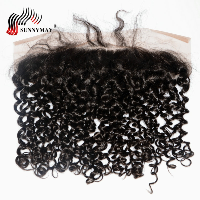 Sunnymay Brazilian Virgin Hair 13x6 Lace Frontal Closure Curly Hair Ear To Ear Pre Plucked With Baby Hair Human Hair Frontal