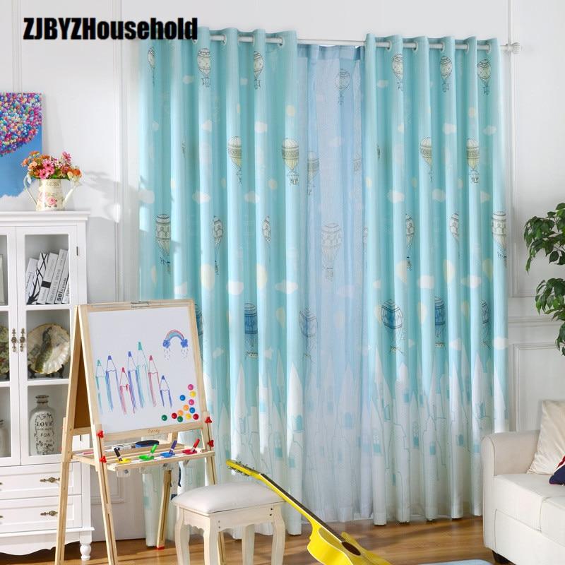 Kids Curtains For Bedroom Window Cartoon Mediterranean Boy