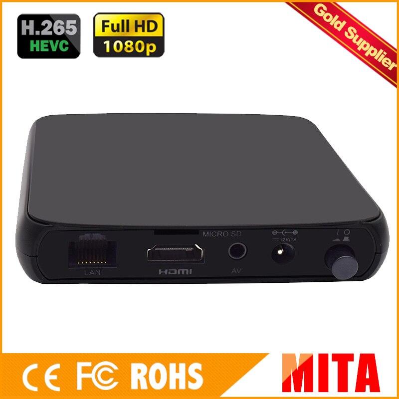 Full HD H.265 HEVC AVC CVBS+AV decoder for IPTV streaming to VLC Media Server Xtream Codes hd h 265 hevc avc 1u 4 channels hdmi dvb t encoder modulator for ip stream to vlc media server xtream codes