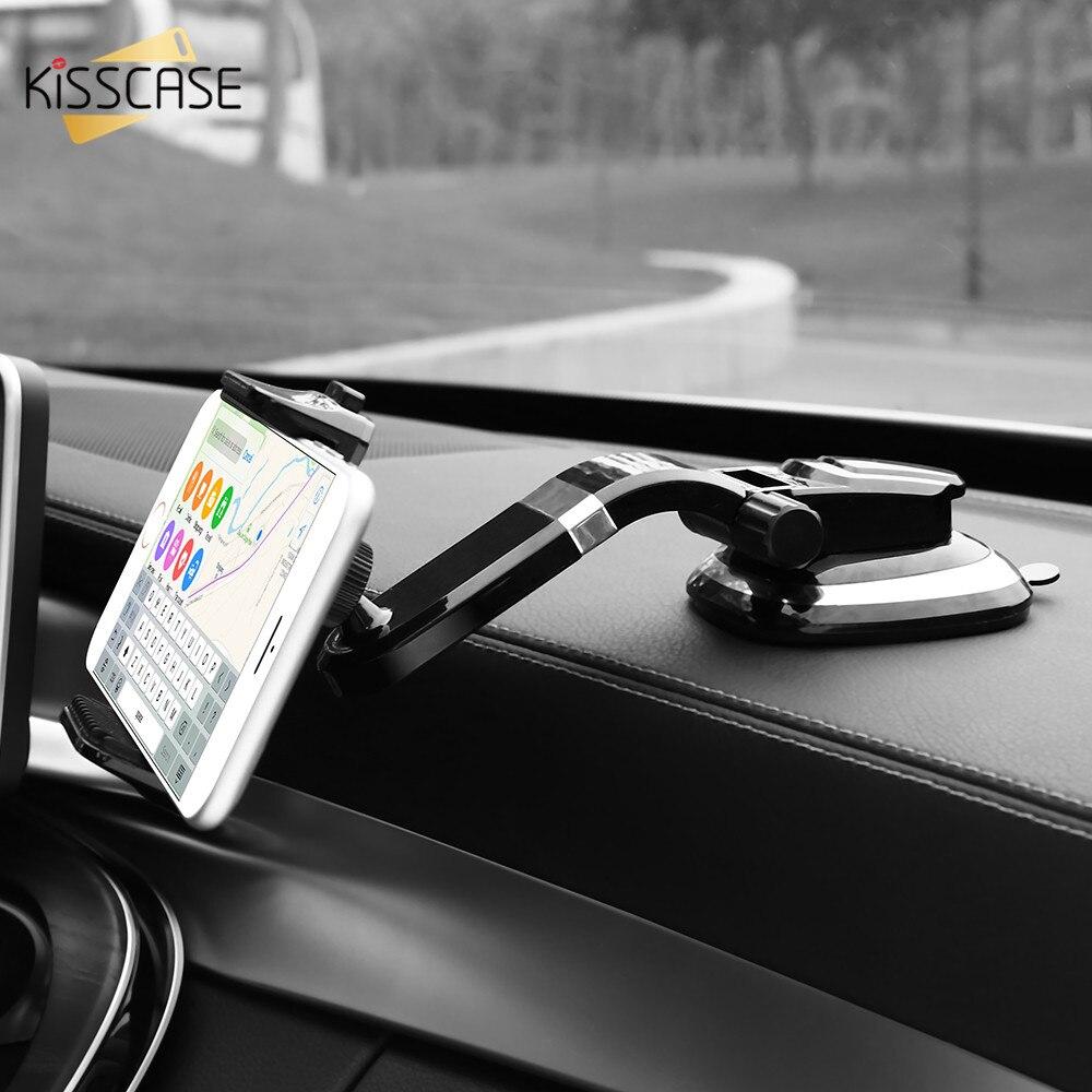 KISSCASE Universal Car Phone Holder Adjustable Mobile Phone Dashboard Holder For iPhone 8 X
