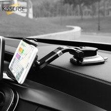 Kisscase Универсальный автомобильный держатель телефона Регулируемая мобильного телефона Dashboard держатель для iPhone 8 x Samsung GPS лобовое стекло держатель стенд
