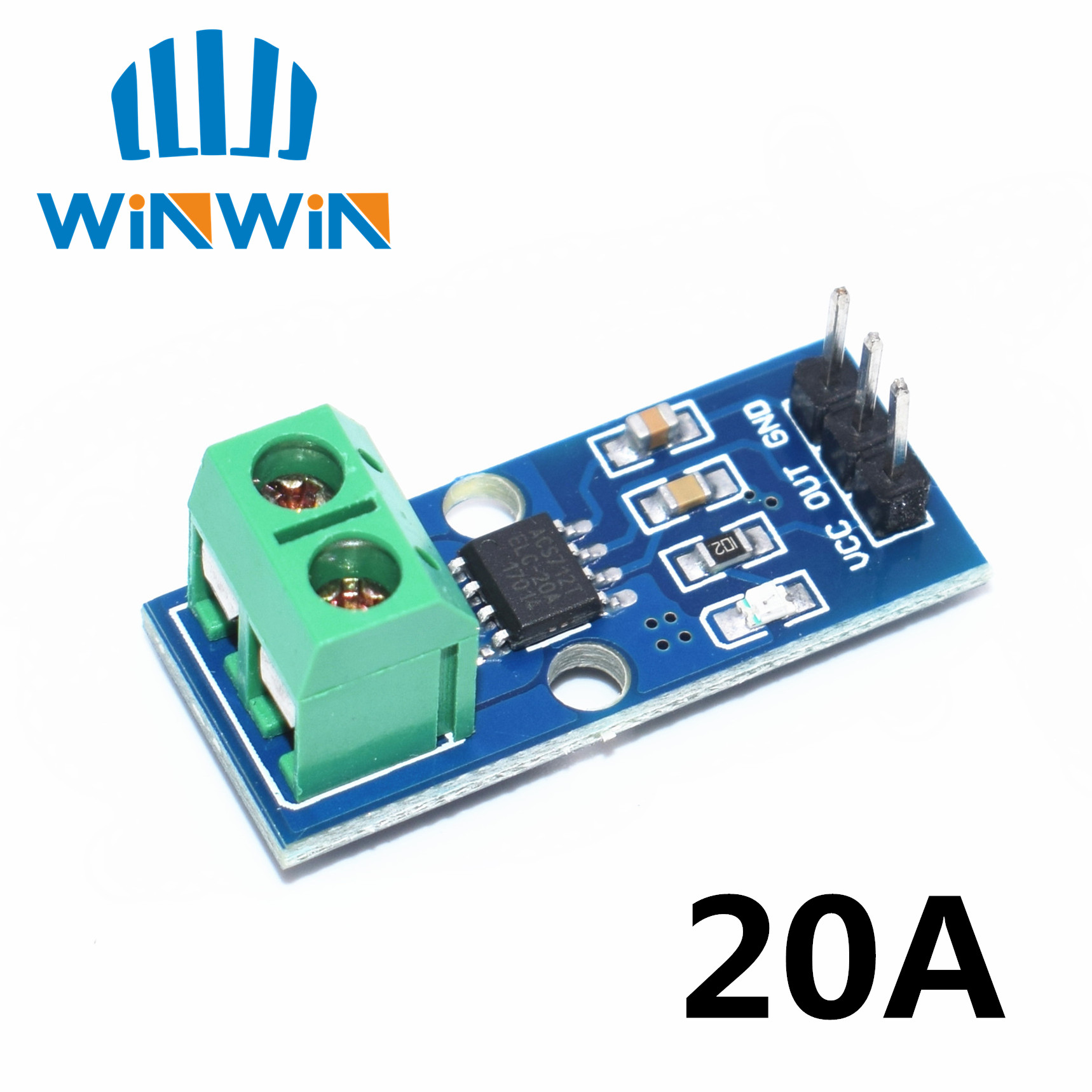 A13 <font><b>10pcs</b></font>/lot NEW 20A Hall Current Sensor Module <font><b>ACS712</b></font> model 20A <font><b>ACS712</b></font> 20A Free Shipping image
