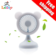 цена на New patented product USB student small fan office mini desktop dormitory bed desktop mute rechargeable electric color fan