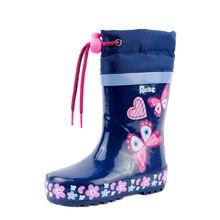 Резиновые сапоги для девочки Reike Butterflies navy