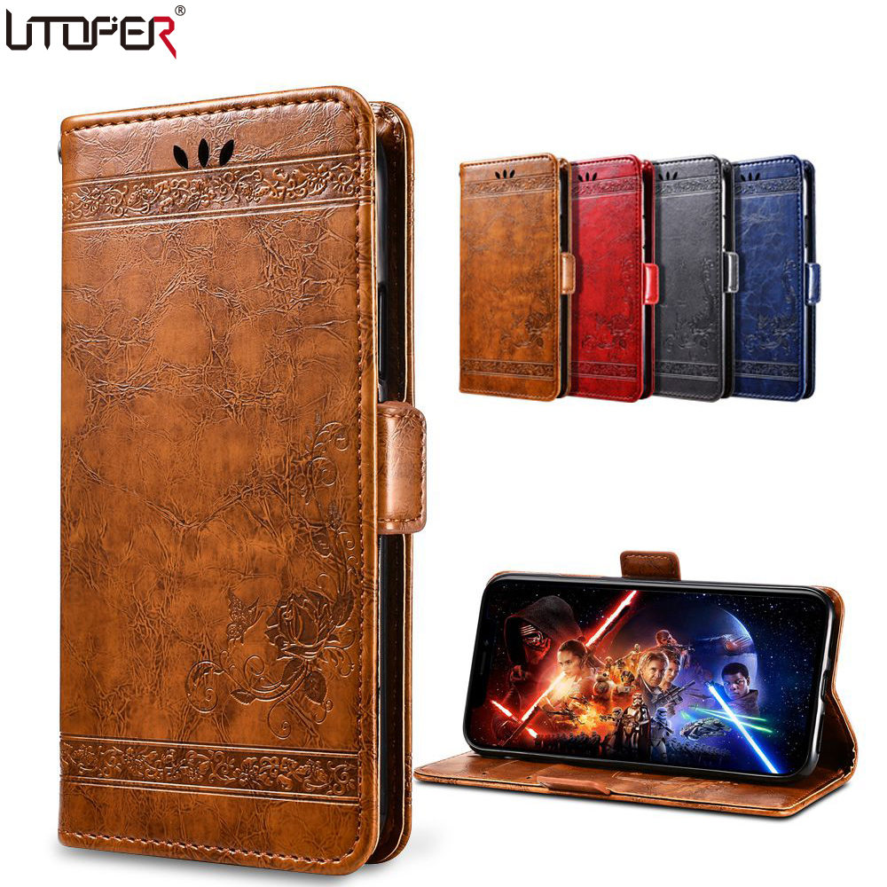 3D Embossed Wallet Case For Sony Xperia XA1 Case Flip PU Leather Cover For Sony XA1 Ultra Plus Case For Sony Xperia XA Phone Bag
