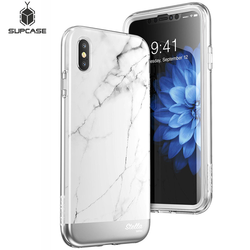 SUPCASE For Iphone Xs Max Case Cover UB Stella Premium Hybrid Shinning Glitter Bling Marble Case With Built-in Screen Protector