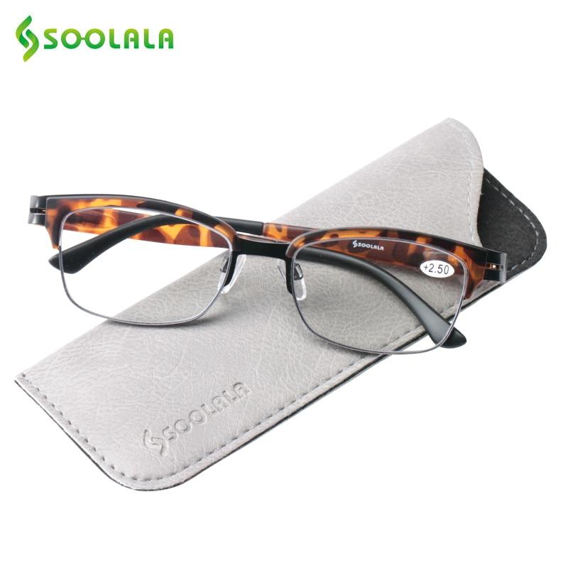 Aktiv Soolala Semi-randlose Lesebrille Frauen Männer Halb Rahmen Presbyopie Brillen Mit Fall Lesebrillen 1,0 1,25 1,5 1,75 2,0 2,25 Zu 4,0