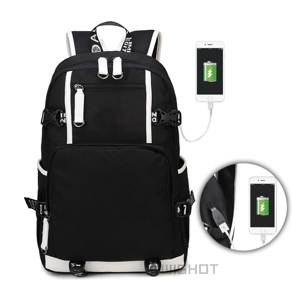 WISHOT Dab рюкзак через плечо Путешествий Школа Сумка для подростков Повседневное зарядка через usb ноутбук световой сумки