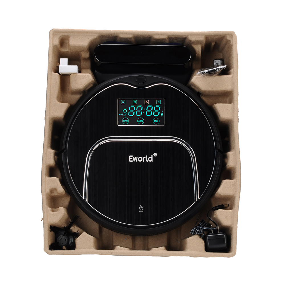 Eworld Wireless Vacuum Cleaner with Big Garbage Box , Big Mop,ABS and Aluminium Alloy Cleaning Robot M883 For Cleaning Floor eworld m883 vacuum cleaner smart sweeping rechargeable robot vacuum cleaner remote controlled automatic dust home cleaner