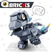 180pcs Q Edition Godzilla King Of The Monsters Dinosaur Jurassic Dino Dragon World Building Blocks Bricks DIY Toys For Kids