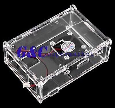 Raspberry Pi 3 diy acrylic Case + Cooling Fan for Raspberry Pi 2 Model