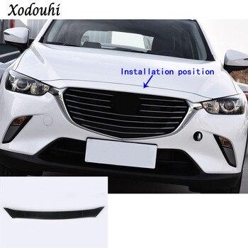 Máquina de motor delantero de fibra de carbono para guarnición de coche, lámpara de embellecedor de tapa superior de campana, 1 Uds. Para Mazda CX-3 CX3 2016 2017 2018 2019 2020