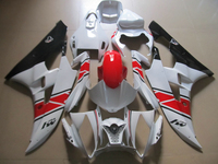 Injection molded ABS plastic fairing kit for Yamaha YZF R6 06 07 white black red fairings set YZFR6 2006 2007 TR37