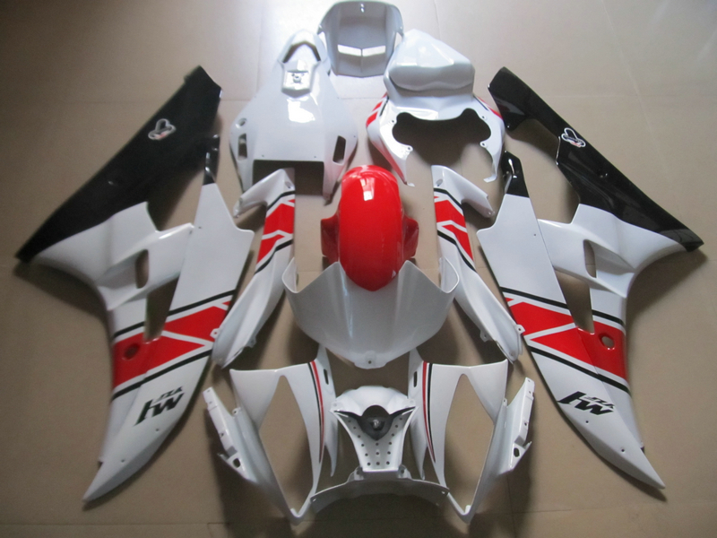 Injection molded ABS plastic fairing kit for Yamaha YZF R6 06 07 white black red fairings set YZFR6 2006 2007 TR37