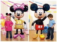 Free Shipping Plus Large Airwalker Minnie Mouse Helium Foil Balloon Wedding Party Decoration Children Party Supplier