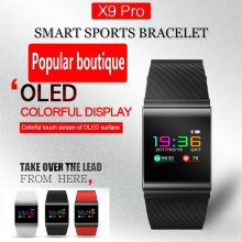 X9Pro smart bracelet  OLED color screen sports waterproof watch Heart rate sphygmomanometer step