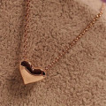 New Women Girl Dress Jewelry 1Pcs Fashion Women Gold Heart Bib Statement Chain for women