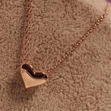 New Women Girl Dress Jewelry 1Pcs Fashion Women Gold Heart Bib Statement Chain for women