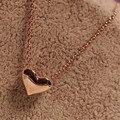 Novo Vestido Da Menina Das Mulheres Jóias 1 Pcs Moda Mulheres Coração de Ouro Bib Declaração Cadeia para as mulheres