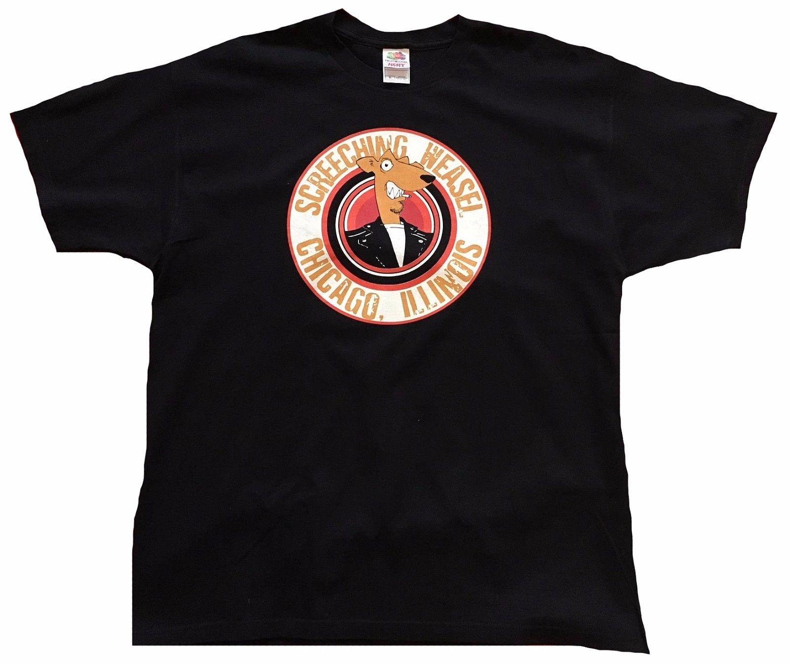 Rare Unworn Official Screeching Weasel Chicago Illinois Skate Punk T-Shirt 3XL Hot New 2018 Summer Fashion T Shirts Top Tee ...
