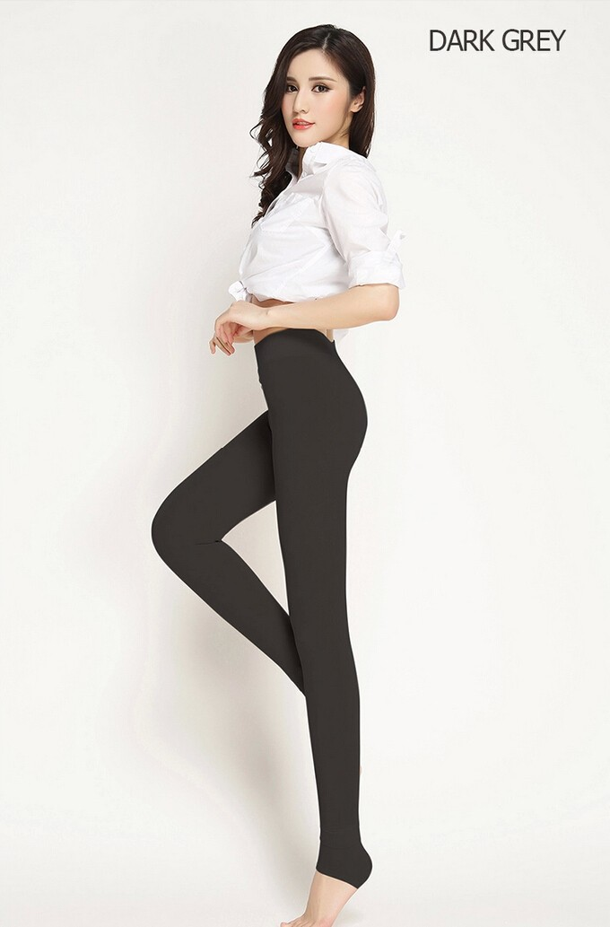 CHRLEISURE New Winter Thick Velvet Pants Female Warm Outer Wear High Waist Pants Were Thick Stretch Pants Stepped Foot legging 20