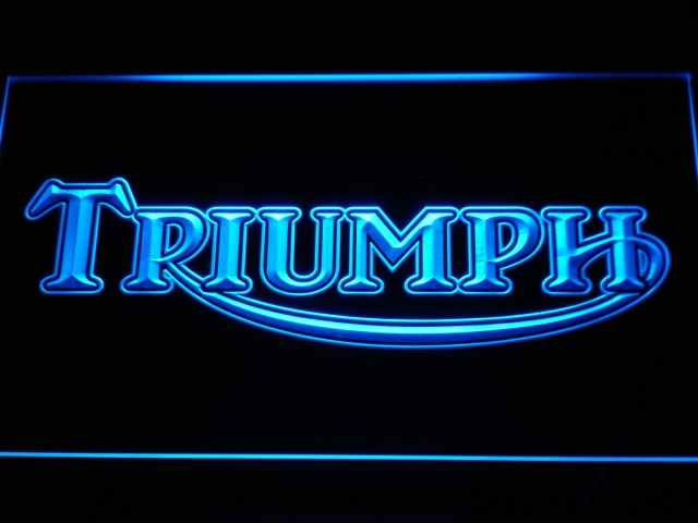 d051 Triumph Motorcycles Services Repairs LED Neon Sign