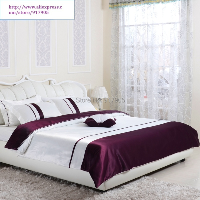 luxury western style dark purple comforter set full queen