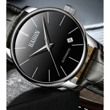цена на HAIQIN Mens Watches Top Brand Luxury Watch Mens Automatic Mechanical Watch Classic Business Leather Watches Waterproof Men Clock