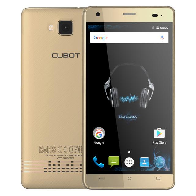 Original CUBOT Echo Smartphone Android 6.0 MTK6580 Quad Core 5.0″ HD IPS Cellphone 2GB+16GB 13MP 3000mAh OTG 3G GPS Mobile Phone