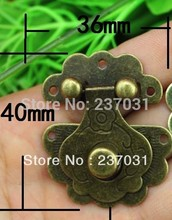 36 * 40 mm flower buckle/yellow tin buckles/can match the lock button box/lock/camera obscura 002(China)