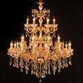 Lustre en cristal de luxe luminaire suspendu lampe pour Restaurant hôtel projet grands Lustres Luminaires éclairage