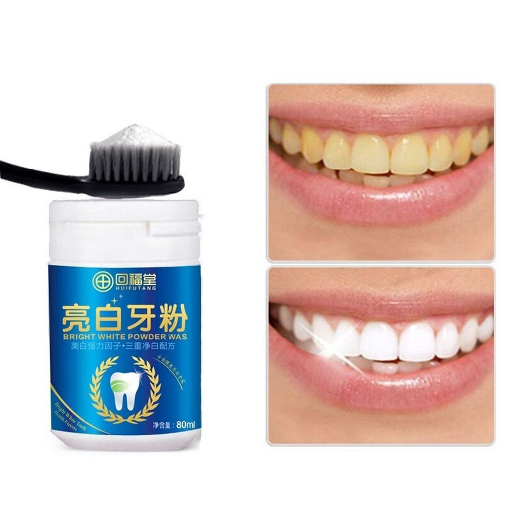 80ml Magic Natural Pearl Tooth Brushing Powder Physical Teeth Whitener Detoxifying Whitening Dental Oral Cleaner