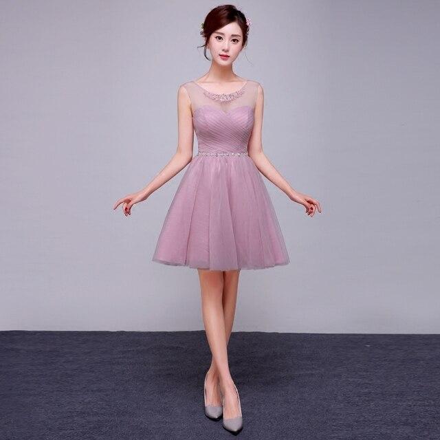 2017 Baru Kedatangan Gaun Pesta Pendek Prom Dresses Pink Untuk