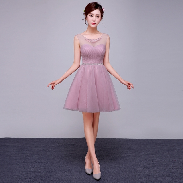 970a5a52d9bc8 2017 جديد وصول حزب فستان قصير حفلة موسيقية فساتين الوردي للنساء أزياء أنيقة  نمط كوريا أسلوب
