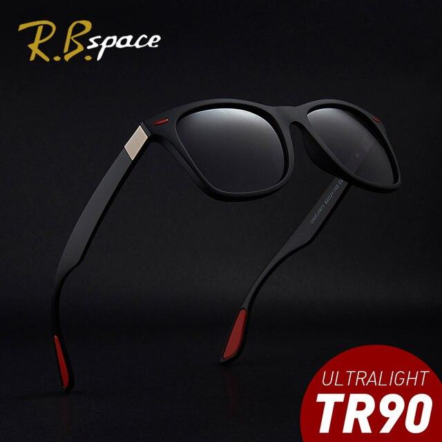 73e551fbc7c42 RBspace óculos de Marca Designer de Moda Óculos Polarizados Óculos de Sol  dos homens Óculos de Sol Óculos de Condução de Viagem UV400 TR90 Quadro  Óculos De ...