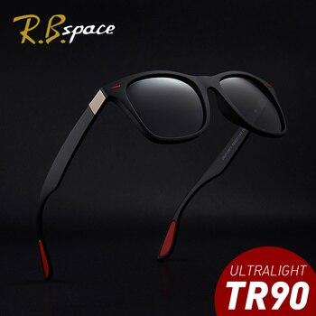 RBspace projektant marki mody spolaryzowane okulary męskie jazdy podróży UV400 okulary przeciwsłoneczne TR90 rama męska okulary przeciwsłoneczne dla kobiet