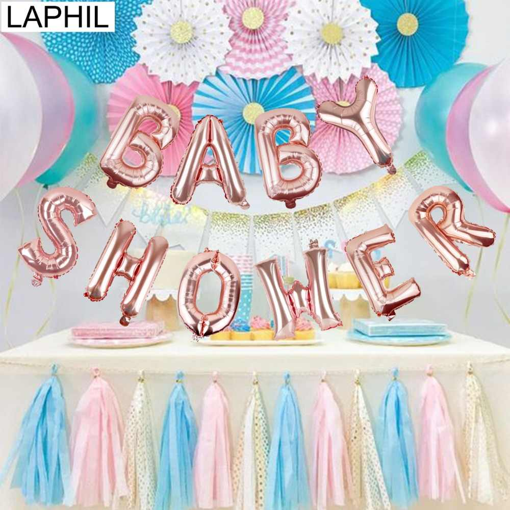 LPAHIL Rose Gold Letter Balloon Baby Shower Balloons Its a Boy Girl Gender Reveal Decoration Birthday Babyshower Party Supplies