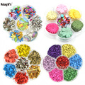 Assorted Color Mini Metal Brads 4.5mm , 8mm, Paper Flowers For Scrapbooking, DIY Craft Supplies Scrapbooking Flowers Brads