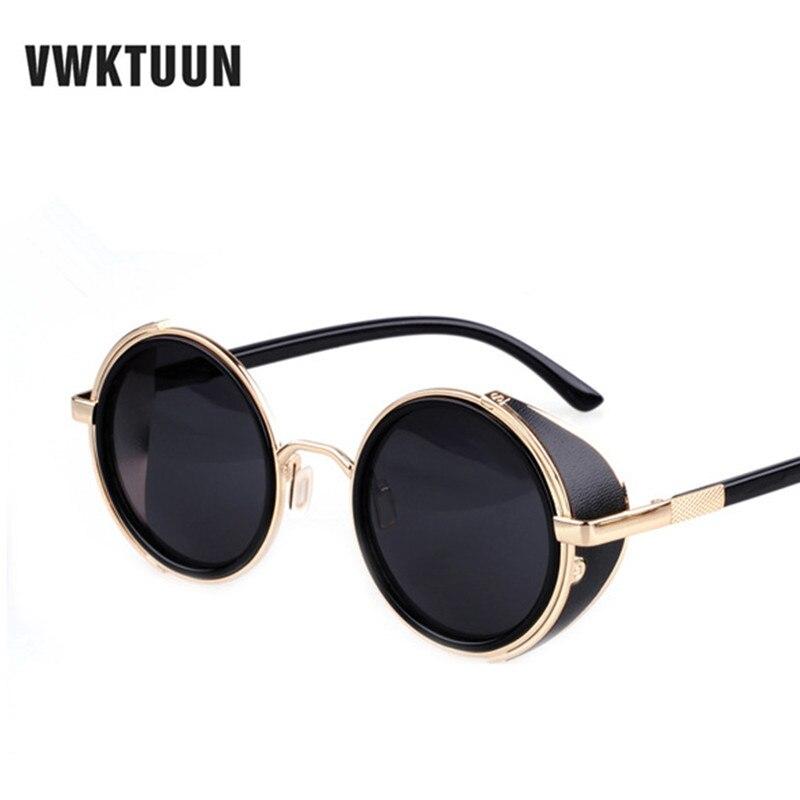VWKTUUN Steampunk Rodada óculos de Sol Espelho Das Mulheres Dos Homens do  estilo Retro Do Vintage do punk do Vapor Óculos Homem mulher Óculos de Sol  Ao Ar ... 7f18c838cb
