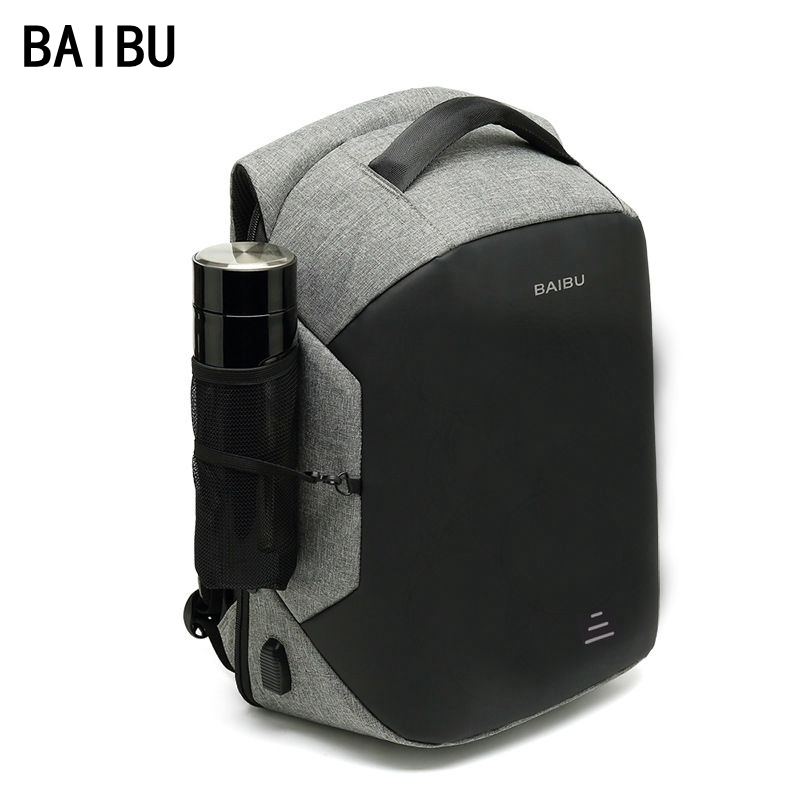 BAIBU Men Upgrade Multifunction Anti theft 15.6 Laptop Backpack USB Charging waterproof Business Large Travel Backpack