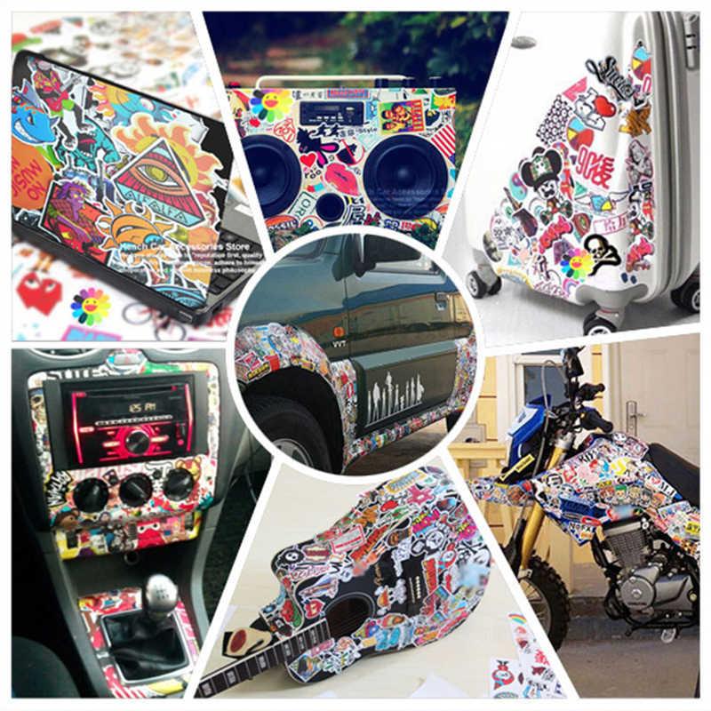 50 adet komik araba çıkartmaları motosiklet bavul ev dekor telefon Laptop kapakları DIY vinil çıkartma bomba JDM araba styling