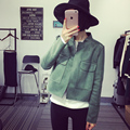 New 2016 Casual Women's Faux Suede Coat Jacket Girls Solid Stand Collar Front Pockets Open Jackets Female Outerwear Top Clothing