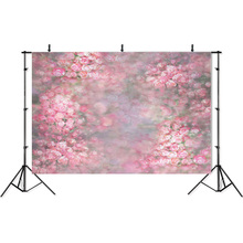Photography Backdrops Dreamy Flowers Photos Newborn Baby Portrait Backdrop Background Customized children Photo Background Props pastel pink color princess baby girl photo shoot background printed flowers newborn photography props kids portrait backdrops