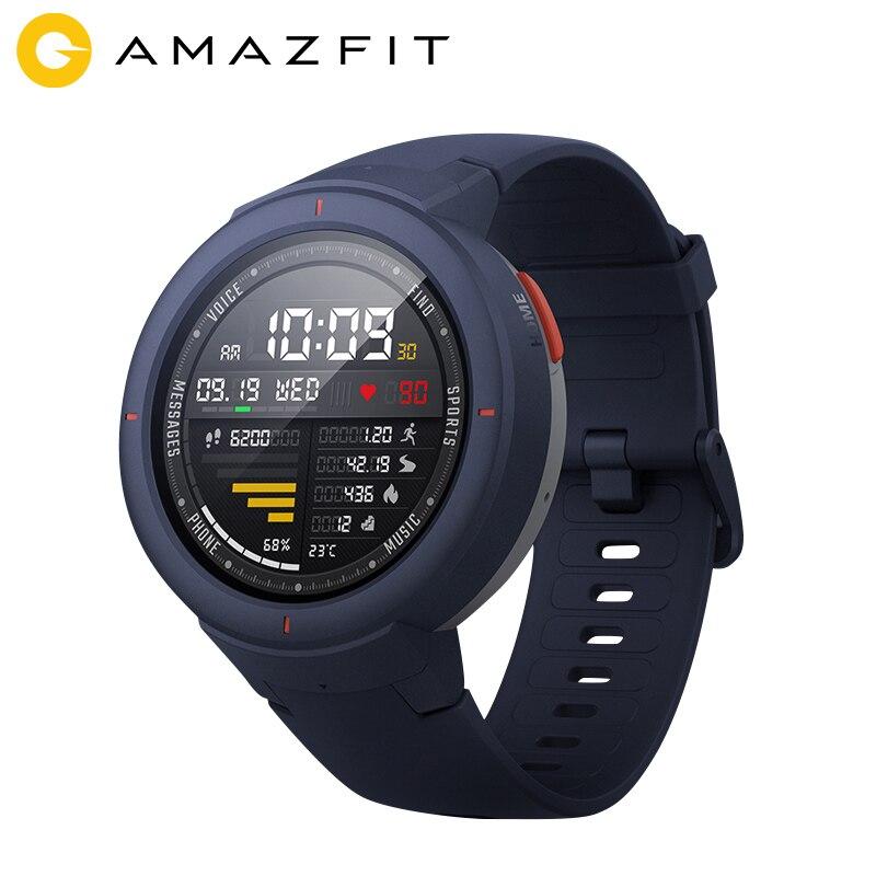 Amazfit Verge Version mondiale espagnol russe français allemand langue Support Sport Smartwatch Bluetooth musique jouer appel réponse