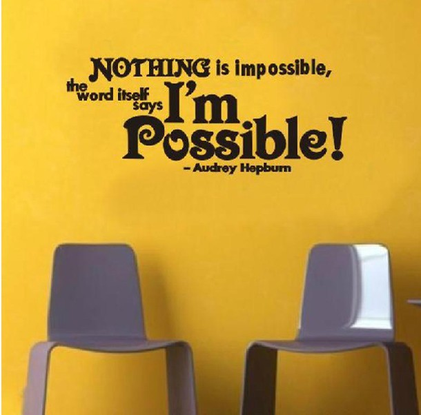 Nothing is impossible but I am possible quote wall stickers CCR8022 ...